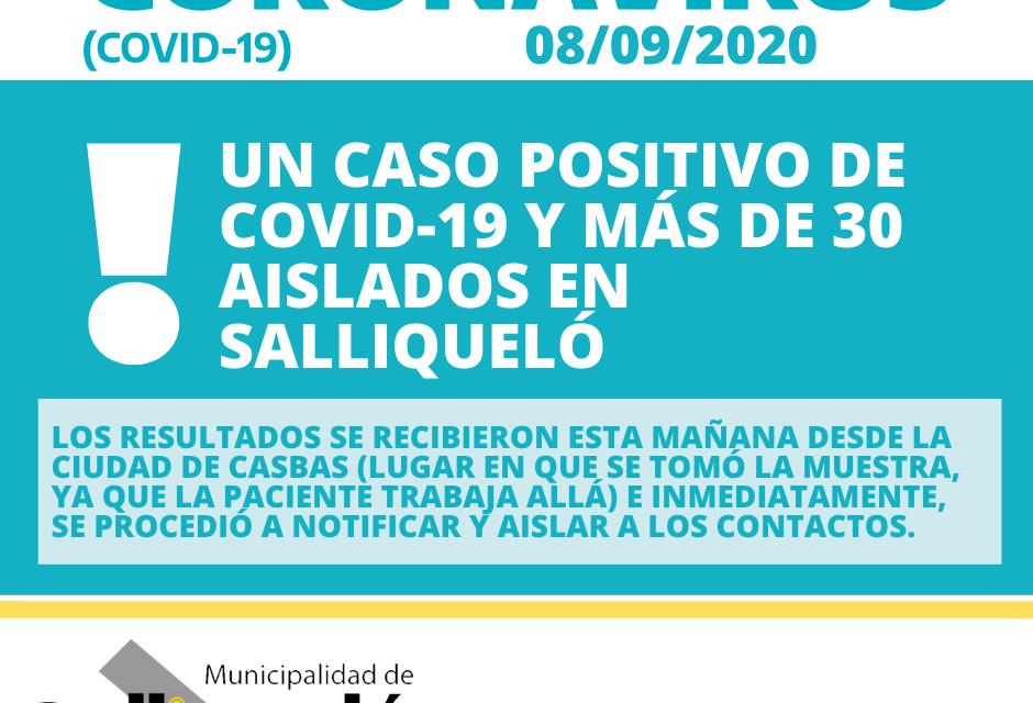 UN CASO POSITIVO Y MÁS DE 30 AISLADOS EN SALLIQUELÓ